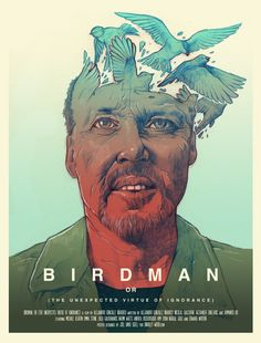 Birdman - Alternative Poster Art Print by Joel Amat Güell Kunst Poster, Poster S, Movie Poster Art, Poster Prints, Art Print, Poster Maker, Best Movie Posters, Cinema Posters, Birdman