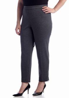 Jones New York Collection  Plus Size Audrey Zipper Pant