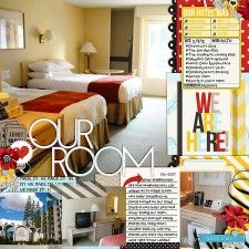 Documenting your Hotel - Disney Project Life page created by clemmon03 featuring Project Mouse by Sahlin Studio & Britt-ish Designs