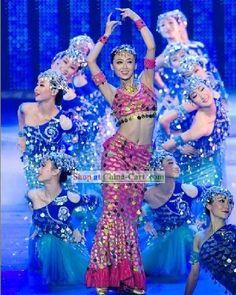 Chinese Traditional Dai Minority Fish Dance Mermaid Costumes