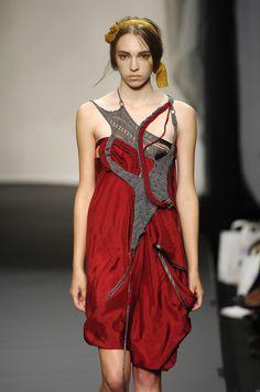 Bora Aksu SS 2008 Interesting combination of knit with fabric