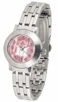 Marshall Thundering Herd Dynasty Ladies Watch with Mother of Pearl Dial by SunTime. $103.51. Stainless Steel Case. Date Display. Scratch Resist Face. Elegant design for the modern woman who wants to show their Marshall Thundering Herd spirit! The dial is presented in a sleek, stainless steel case and bracelet that rests fashionably yet comfortably across the wrist. Features a convenient date display, quartz accurate movement and a scratch resistant mineral crystal face.The hypno...