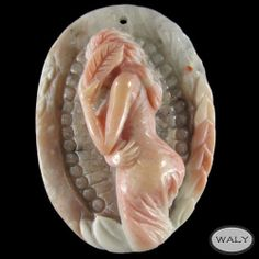 Carved Flower Nymph Morocco Crazy Agate Bead   eBay