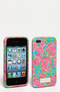 Lilly Pulitzer® 'Fan Dance' iPhone 4 Case- I love Lily Pulitzer! I bought the case though I'm getting my Iphone in August.. but its cute right? My favorite color is Pink anyways!