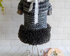 Haustier Kleidung Kleid für Hund Häkelkleid, die kleinen Hund kleiner Hund Pullover Hund Kostüm Yorkie Kleidung Hund häkeln, die Kleidung für Hunde Kleid