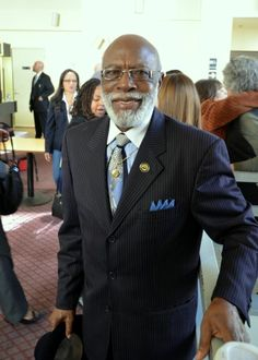 Rev. Dr. Arelious Walker, senior minister of the True Hope Church of God in Christ, at the MLK2014 Labor and Community Breakfast.