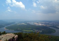 Tennessee River ~ View from Lookout Mountain, Chattanooga, Tennessee
