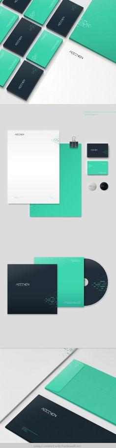 Accenon corporate logo business card letter letterhead envelop design