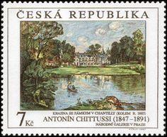 Antonín Chittussi: Krajina se zámkem v Chantilly