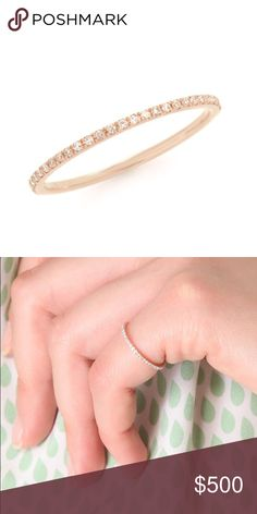Gabriela Artigas Rose Gold Infinity Axis Ring Excellent used condition. No diamonds missing. 14k rose gold with .2ct. White diamonds. Purchased from Shopbop. I do not have the packaging anymore, it literally came in a little plastic bag. No trades, no pp. accepting offers! Gabriela Artigas Jewelry Rings