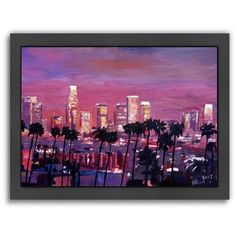 Los Angeles Wall Art los angeles skyline panoramic picture framed, california-series 2