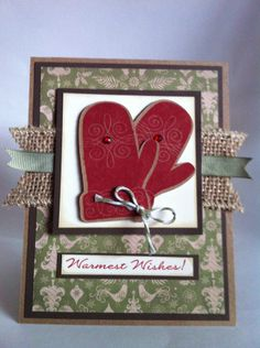 Courtney Lane Designs: Warmest Wishes card made using the October stamp of the month and the Artiste cartridge.