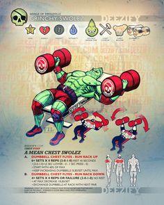 chest exercise: chest flyes grinchy swolez