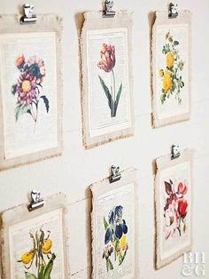 DIY Printed Flower Hangings - Creative DIY Wall Decor Ideas - Photos