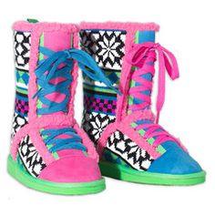 Fair Isle Sneaker Mukluks #boots #littlemissmatched