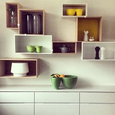 Muuto stacked to add colour and warmth to the kitchen