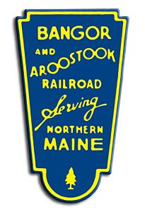 The logo of the Bangor & Aroostook Railroad which operated throughout much of Maine.