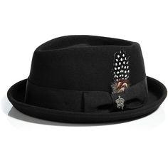 CHRISTYS Black Fugazi-Diamond Feodora Hat ( 55) ❤ liked on Polyvore  featuring accessories 0077c182d3db