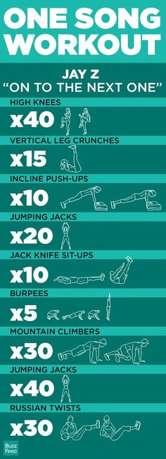 One-song workouts... I think I could manage to squeeze these into my morning routine!