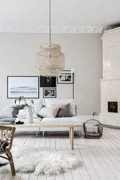 15 Wonderful Scandinavian Living Room Design and Decor Ideas For Fun Your Guest Living Room Ideas 2019, Cozy Living Rooms, Interior Design Living Room, Home And Living, Living Room Designs, Living Room Decor, Söderhamn Sofa, Couch, Design Salon