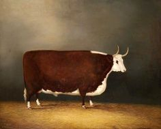 Hereford Ox, by James Clark Cow Paintings On Canvas, Your Paintings, Animal Paintings, Landscape Paintings, Landscapes, Ephemeral Art, Painted Rug, Country Art, Country Style