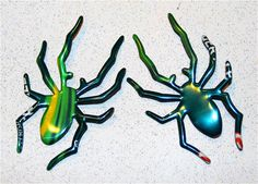 Recycled Soda Can Art Intricate Set of TWO Spider by apmemory, $4.00