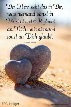 bible quotes Herr sieht in Dir was sonst niem - quotes Joyce Meyer Bible, Women Of Faith, Faith Hope Love, Empowering Quotes, Believe In God, Jesus Loves Me, God Jesus, God Is Good, True Words