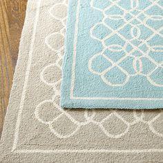sunroom rug option Suzanne Kasler Geometric Hand Hooked Rug
