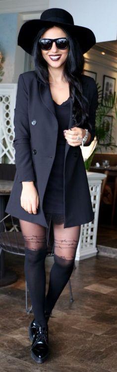 All Black Everything Outfit by Duygu Senyurek