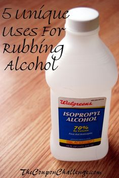 Did you know you can use rubbing alcohol to make your own ice pack?  Check out these 5 Unique Uses for Rubbing Alcohol for more ideas on using a common household product.