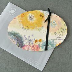 パレットカード オーバルフラワー - 紙モノのアトリエ アンクルダンクル