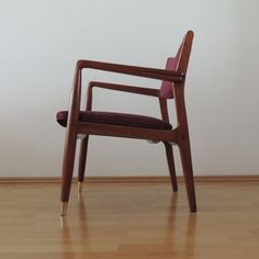 Pedro Ramirez Vázquez arm chair by IRGSA S.A., varnished in natural mahogany wood. Sale of a single chair or set of chairs.