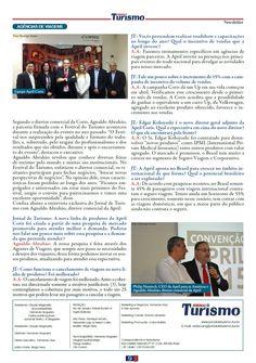 Título: Entrevista com Agnaldo Abrahão Veículo: Jornal de Turismo . Data: 01/07/2015. Cliente: April