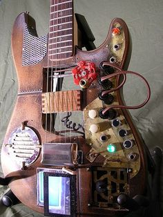 Custom steampunk guitar