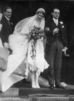1925:  Prince Otto von Bismarck on his wedding day.