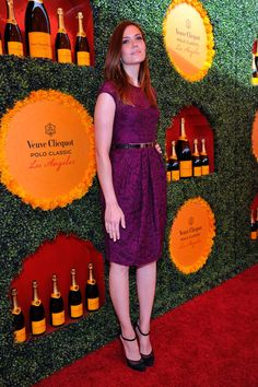 Mandy Moore in Lela Rose  — Third Annual Veuve Clicquot Polo event