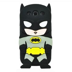 "myEcho Dark Gotham Black {DC Comics Superhero Batman} Soft and Flexible Smooth Silicone Gel Bumper Skin Fit Case for the Samsung Galaxy ""Ultra Durable and Slim Fashionable Cover with Awesome, Unique and Creative Cartoon Art Design"" myEcho Products Cute Batman, Batman Hero, Black Batman, Batman The Dark Knight, Superman, Superhero Cartoon, 3d Cartoon, Cute Cartoon, Iphone 5s Covers"