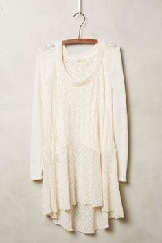 Meadow Rue Skirted Limay Pullover, great with skinnies #anthrofave