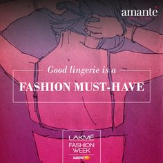Yes, we are the official lingerie partner for #LakmeFashionWeek #WinterFestive 2014. #amanteLFW
