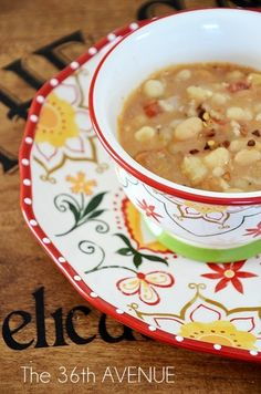 Beans and White Corn Soup Recipe
