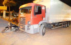 DE OLHO 24HORAS: Caminhão atropela motociclista e arrasta moto por ...