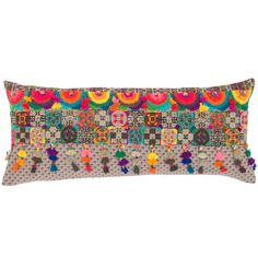 Boho Embroidered Decorative Pillow