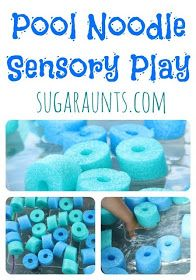 Pool Noodle Sensory Play; maybe a fun (and cheap) alternative to a ball pit???