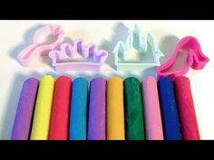 Disney Princess Dough Set Clay Sticks with Princesses Cinderella Belle Aurora Play-Doh Creations - YouTube