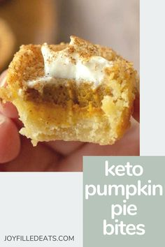 These Mini Pumpkin Pies will be the cutest treat you serve this fall. They are the perfect handheld two-bite sweet to satisfy your pumpkin craving. This easy pumpkin pie bites recipe is low carb, keto, gluten-free, grain-free, sugar-free, and Trim Healthy Mama friendly. Keto Pumpkin Pie, Mini Pumpkin Pies, Pumpkin Recipes, Grain Free, Sugar Free, Cravings, Gluten Free Grains, Treats, Treat Yourself