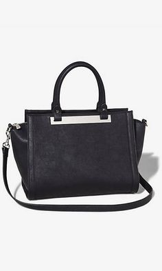BAR ACCENT WINGED SATCHEL | Express