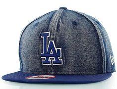 LA Dodgers Team Denim Snapback Cap By NEW ERA x MLB