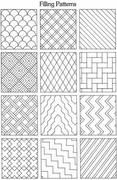 Dover Publications offset the lines to make them thicker and cut a background? - Dover Publications offset the lines to make them thicker and cut a background? Doodle Patterns, Line Patterns, Zentangle Patterns, Blackwork Patterns, Zentangles, Sashiko Embroidery, Japanese Embroidery, Embroidery Patterns, Knitting Patterns