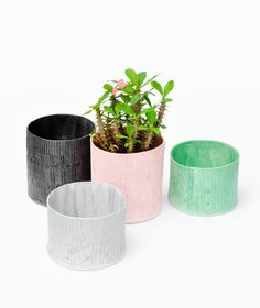 cable knit planters / new!