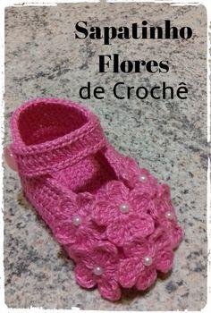 Aprenda junto comigo, passo a passo, fazer este lindo sapatinho de crochê...